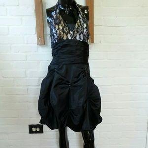 Black Cocktail evening Bubble Dress